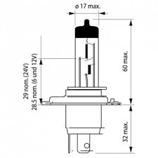 H4 OSRAM Cool Blue Intense 12V Lampe 64193CBI-HCB DUO Set 2 Stück