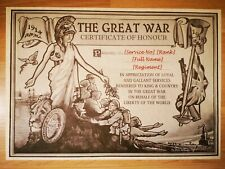 More details for world war one certificate of honour - wwi custom scroll