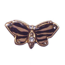 Crystal John Wind Vintage Jewelry Maximal Art Pin Butterfly Gold