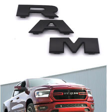 2pcs OEM Black Replacement for Ram 1500 2500 3500 Grille Front Emblem and Rear Tailgate Badges 3D fit 2013-18