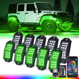 Xprite 108 LED RGB Rock Lights Underbody Neon Kit Bluetooth Remote ATV UTV RZR