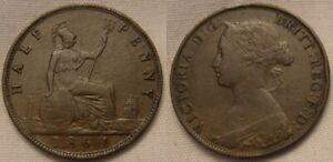1861 Victoria Half Penny - Coin 3
