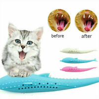 INTERACTIVE Pet Cat Toothbrush With Catnip Cat Silicone Molar Stick Dental Toy