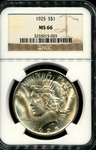 1925 Peace Silver Dollar NGC MS-66