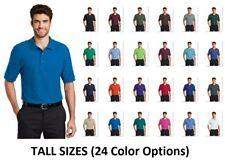 New Men's Port Authority Tall LT - 4XLT Polo Shirt Wrinkle Resistant