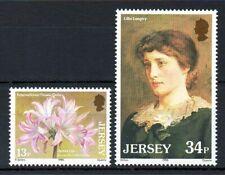 Jersey 1986 Jersey Lillies MNH set S.G. 380-381