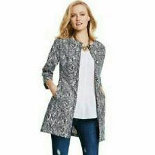 Cabi Zigzag Tunic Jacket SZ Small 3034 Ponte Knit Coat Trench Blazer Career