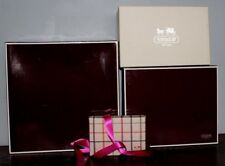 Coach~4pc~Lot Gift Bag Storage Box Glossy Sturdy Red Brown Tattersall White shoe