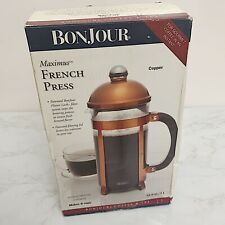Bonjour Maximus Copper French Press Coffee & Tea Maker Makes 8 cups 1 liter New