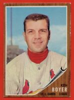 1962 Topps #370 Ken Boyer VG-VGEX CREASE St. Louis Cardinals FREE SHIPPING