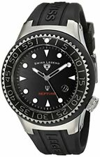 Swiss Legend Men's 21848D-GM-01-NB Neptune Black Dial Black Silicone Watch