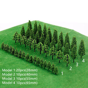50PCS Miniature Trees Model Train Railroad Wargame Scenery Landscape Scale