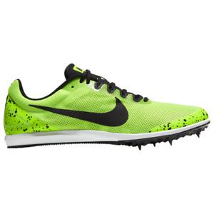 Nike Men's women's  Zoom Rival D 10 Track Spike, Electric Green/Black, 12.5 US