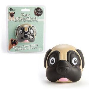 Xmas Pug Stressball Stress away Relaxing hands Love Animal Pet Face Comfort Dog
