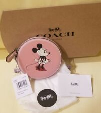 Coach x Disney Minnie Mouse Wristlet Coin Purse Rare - Nwt