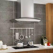 90CM Cappa Aspirante A Parete Cucina Acciaio Inox e Vetro Con Luci LED 756 m³/h