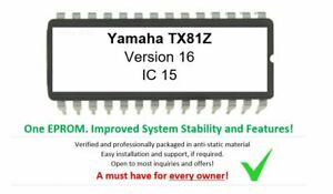 Yamaha TX81z - Version 1.6 Firmware EPROM OS Update for FM Synthesizer TX-81z