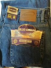 Blue Circle Mens Denim Jeans New With Tags W34 L31 Blue Regular Fit