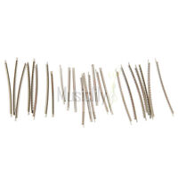 Musiclily Stainless Steel 2.7mm Acoustic Electric Guitar 24 Fret Wire Set Chrome