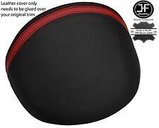 BLACK & DARK RED STRIPE LEATHER DASH COWL HOOD COVER FITS MG MGF MG TF 95-05