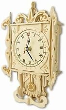 Pendulum clock: Woodcraft Quay Construction Wooden 3D Model Kit F004 Age 7 plus