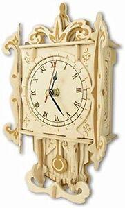 Pendulum clock: Woodcraft Quay Construction Wooden 3D Model Kit F004 Age 7 plus
