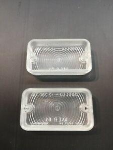 Lancia flaminia reverse light lenses pair NEW