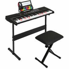BCP SKY5138 61-key Electronic Keyboard Light-Up Keys Teaching Keyboard w/ Stand