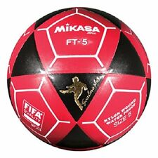 Mikasa FT5 Goal Master Soccer Ball Foot Volley ball Black/Red Size 5