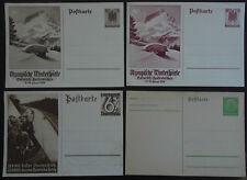 4 entiers postaux Allemagne  Ganzsache  Deutsches Reich  postfrisch Germany
