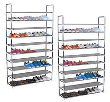 2x XXL 10 Ebene Schuhregal Schuhablage Schuhständer für 50 Paar Schuhe SR0008-2