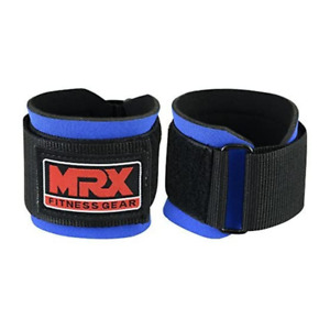 MRX Weight Lifting Wrist Wraps for Wrist Support BLUE