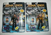 2 Star Trek DS9 Action Figures Lot Lieutenant Thomas Riker Chief MIles O'Brien
