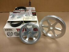 (CLOSEOUT) AEM TRU-POWER PULLEY W/ BELTS SET FOR 92-96 PRELUDE SI H23