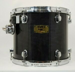 """Mapex Pro M 13"""" Tom Black Lacquer Finish, Power Hoops"""