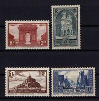 AQ140586/ FRANCE / Y&T # 258 – 259 – 260 - 261 MINT MH - CV 275 $