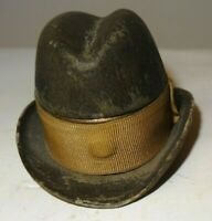 Very rare, boer's hat travelling inkwell. C1900 Boer war period.