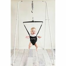 Jolly Jumper Baby Exerciser with Portable Stand in White