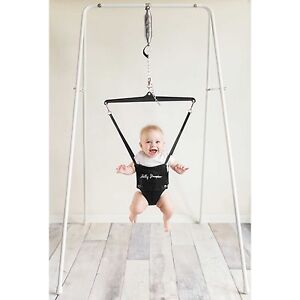 Jolly Jumper Baby Exerciser with Portable Stand in White --- Baby Jumper
