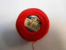 DMC Perle 8 Cotton Ball Red Colour Number 666