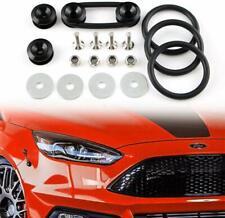 Black Aluminum Fastener Quick Release Car Bumper Fender Trunk Hatch Lid Kit
