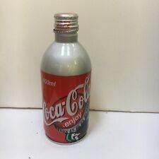 2002 400 ml JAPAN ALUMINUM BOTTLE WITH BOTTLE GRAPHIC-EMPTY-SCREW TOP- NICE