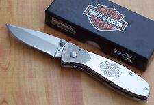 CASE TECX TAGS-L HARLEY DAVIDSON FOLDING KNIFE POLISHED STAINLESS 52083 NEW