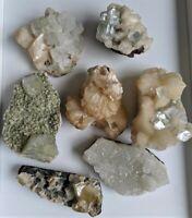 Apophyllite & Stilbite Crystal Clusters Natural Minerals