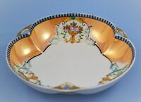 "ANTIQUE VINTAGE NORITAKE ""M"" JAPAN LUSTERWARE HAND PAINTED BOWL"