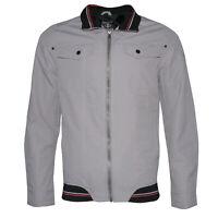 Mens Zipper Casual Jacket Zip Up Front Button Pockets Slim Fit MILJ-608