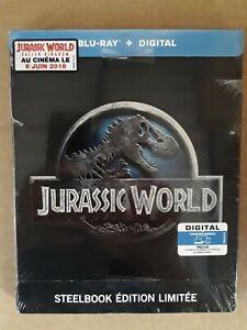Jurassic World blu ray steelbook édition limitée sous cello fr