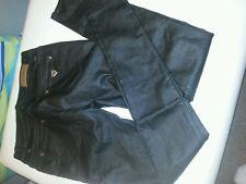 Damenhose,  schwarz, Art Kunstleder, Gr. M/38