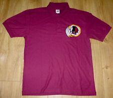 NFL WASHINGTON REDSKINS-Polo Shirt-Maroon-Embroidered-MEDIUM-NEW-Unworn