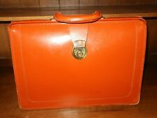 Vintage Tan Leather Briefcase - free UK postage